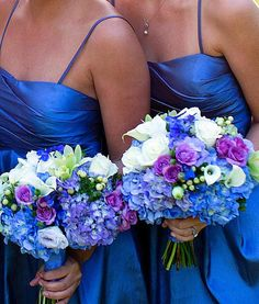 Blue and Purple Bouquet designed by www.pixiespetals.com