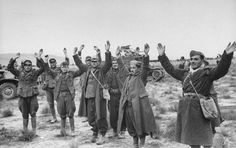 Mareth Line, last Axis strongpoint in North Africa, is cracking. Italian troops surrender after Allies encircle them: