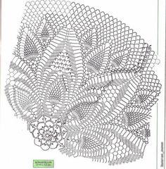 Gráfico da sombrinha branca de crochê