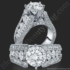 The High Class Escalating Split Shank Diamond Engagement Ring - $4,850.00