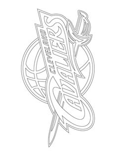 cleveland cavaliers logo coloring page from nba category select from 20946 printable crafts of cartoons - Cleveland Sports Coloring Book