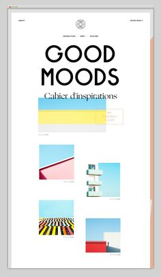 interesting site, I like their border treatment as well and they use a lot of different layout ideas. check this one out:  http://www.goodmoods.com/inspirations/80s-girls.html
