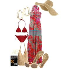 no two piece for me but love the dress and hat..............s