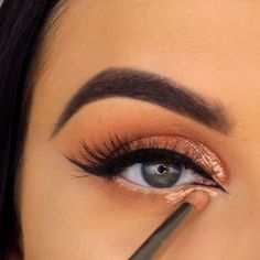 Moden verblassen # 013 Medieninhalte und -analysen - Prom Makeup Ideas - Make Up Makeup Trends, Makeup 101, Makeup Goals, Skin Makeup, Makeup Inspo, Eyeshadow Makeup, Beauty Makeup, Eyeshadow Ideas, Rose Gold Eyeshadow