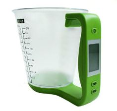 Multifunctional Kitchen Utensils Digital Scale Measuring Cup by AMC. $23.99. Intelligent weighing presets for 5 food types: water, milk, flour, sugar, oil.. Convert measuring units: g, ml, oz, cup, ct, lbs. Cooking buddy - digital detachable measuring cup for your kitchen.. Features:Cooking buddy - digital detachable measuring cup for your kitchen.Intelligent weighing presets for 5 food types: water, milk, flour, sugar, oil.Convert measuring units: g, ml, oz, cup, ct, lbsLCD di...
