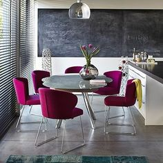 Image result for fuschia pink dining chairs