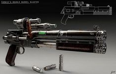 Star Wars Blaster Rifle - Star Wars Mandalorian - Ideas of Star Wars Mandalorian - Star Wars Blaster Rifle Star Citizen, Star Wars Guns, Star Wars Rpg, Sci Fi Weapons, Weapon Concept Art, Armor Concept, Weapons Guns, Fantasy Weapons, Armes Futures