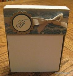 Stamp & Scrap with Frenchie: Stationary Note pad box Video