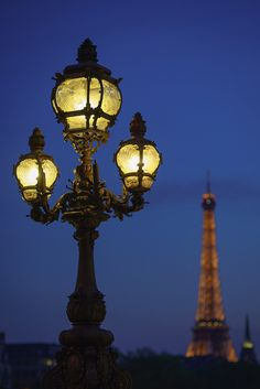 Paris street lights