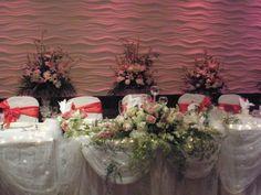 wedding reception head table decoration ideas - Google Search
