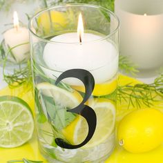 Uniquely number your reception tables , elegant and memorable! See more here: http://weddingcandles.com/products/glass-cylinder-table-numbers?variant=9821289669