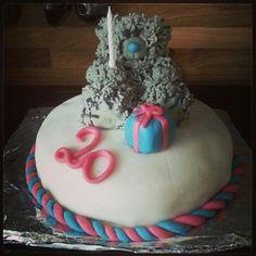 #metooyou #20 #cake #white #pink #present #furry #blue