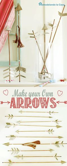 DIY rustic arrows to decorate for Valentines or any other occasion