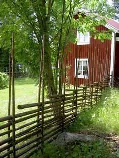 Goldies Matte - Sweden. Wonderful example of round pole fencing.