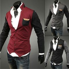 Color Contrast New Designer Men Fashion Cardigan  . Shop Now At http://sneakoutfitters.com/collections/new-in/products/color-contrast-new-designer-men-fashion-cardigan