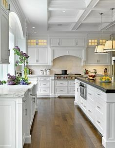 Shaker White Kitchen. Very Clean but lots of detail. Pennville Custom cabinets. Painted cabinets feel like butter.