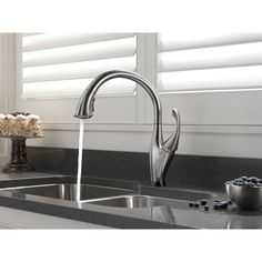 Delta Faucet 9192T-DST Addison Polished Chrome Pullout Spray Kitchen Faucets…