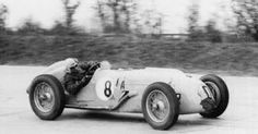 Eugene Chaboud in his Talbot giving it some beans in 1947.