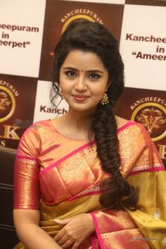 Anupama-Parameswaran-at-VRK-Silks-Launches-Photos-(41