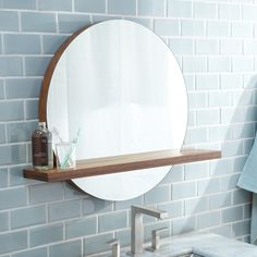 Buy the Native Trails Woven Strand Bamboo Direct. Shop for the Native Trails Woven Strand Bamboo Renewal x Solace Circular Mirror with Shelf and save. Bathroom Mirror With Shelf, Round Wall Mirror, Wall Mounted Mirror, Bathroom Shelves, Round Mirrors, Bathroom Storage, Mirror Mirror, Bathroom Mirrors, Vanity Mirrors