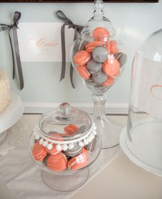 Coral wedding ideas, Coral Macaroons