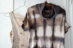 Women Blouse Shibori Acorn Dye Tie Dye Natural