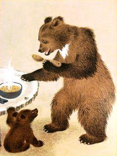 Сказочные Иллюстрации: Gerda Muller - Златовласка и Три Медведя