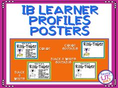 MYP and PYP IB Learner Profile Character Traits Posters | Ib ...