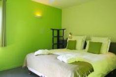 Une chambre vert pomme à croquer
