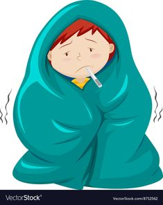 Kid under blanket having fever Royalty Free Vector Image Preschool Learning Activities, Fun Learning, Cartoon Pics, Cartoon Art, I Second That Emotion, Picture Comprehension, Kids Background, Kids English, Visual Aids