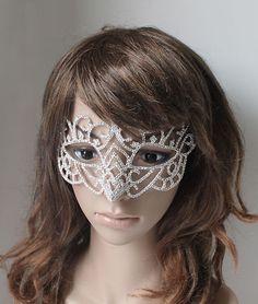 1Pc Rhinestone Crystal Mask Masquerade Mask Venetian Costume Fetish Party Ball