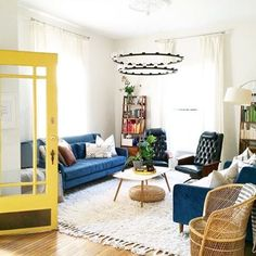 It's FRIDAY!! Which means you have all weekend to paint your door yellow or add some blue to your living room! #regram @chelseapetaja