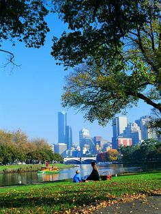 Yarra River, viewed from Batman Avenue, Melbourne - the second largest city in Australia.
