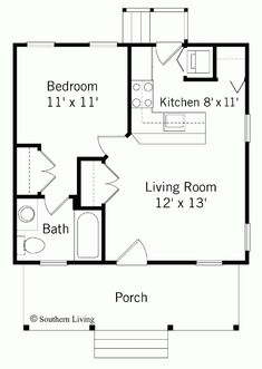 House floor plans  Floor plans and Floors on Pinterest Bedroom House Plans   Bedroom House Plans  Top One Bedroom House Plans