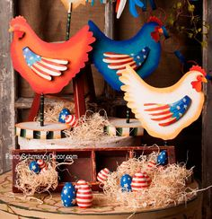 Americana Hen Stake by The Round Top Collection A7004