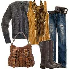 Outfit for tall riding boots