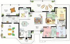 Découvrez les plans de cette demeure de plain-pied sur www.construiresamaison.com >>>