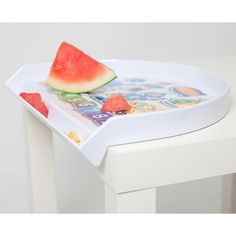 Toosh Coosh Toddler Tray. A plate and food catcher all in one. Reduces food landing on the floor. Easy to wipe clean.