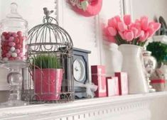 Awesome 88 Cool Valentine'S Day Mantel Decoration Ideas. More at http://88homedecor.com/2018/01/09/88-cool-valentines-day-mantel-decoration-ideas/