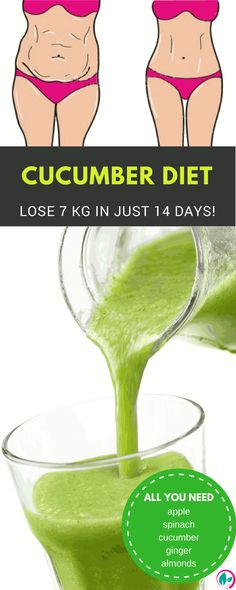 If you want to quickly lose weight, you just need to try this amazing cucumber diet for 14 days. The results are incredible.
