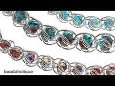 how to do a chain maille weave with captured round beads.    Designer: Megan Milliken    Captured Crystals Necklace  Project N1036  http://www.beadaholique.com/t-ba-project-N1036.aspx?utm_source=YouTube_medium=social-media_campaign=default    You can find the supplies in this video at Beadaho...
