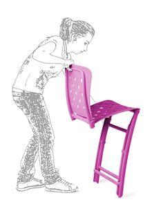 Chaise de jardin et d'extérieur Zac, astucieuse et haute en couleurs!