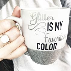 Glitter Is My Favorite Color Short Mug (SILVER)