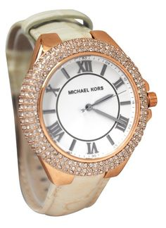 Michael Kors MK2330 Slim Camille Rose Gold Women's Leather Watch on Sale at WatchWarehouse.com