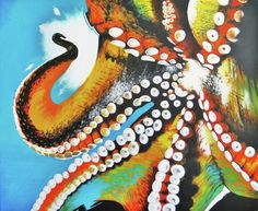 Octopus by Colleen  Auxier - Octopus Painting - Octopus Fine Art Prints and Posters for Sale