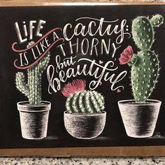 Cactus Print Succulent Print Cactus Art Print Cactus Wall Art Life Is Like A Cactus Cactus decor Chalk Art Chalkboard Art Cactus Quotes, Cactus Wall Art, Cactus Cactus, Indoor Cactus, Cactus Doodle, Cactus Gifts, Decoration Cactus, Chalkboard Print, Chalkboard Decor