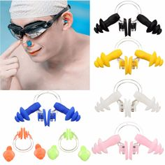 Sale 23% (1.79$) - Waterproof Swimming Soft Silicone Nose Clip Ear Plugs Earplugs with Box