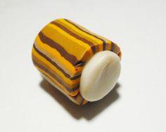 DIY tutorial pandora style polymer clay stripped beads