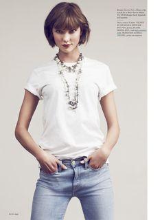 Karlie Kloss photographiée par Bruno Staub pour Elle US septembre 2013
