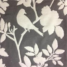 Bianca Graphite Reversible Woven Bird Patterned Upholstery Fabric;...this is going on my 60's retro corner chair i just got for my room : )